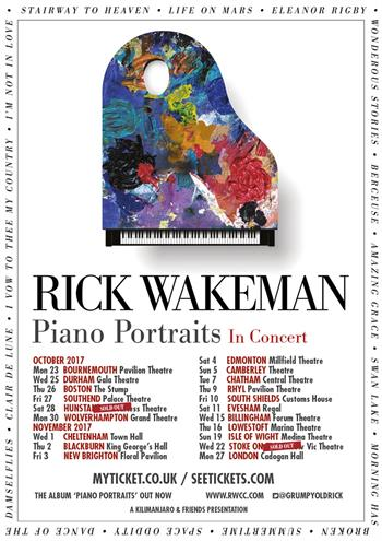 Rick Wakeman - Piano Portraits in Concert UK Tour 2017