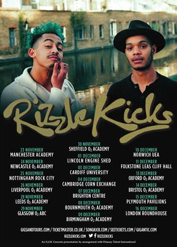 Rizzle Kicks UK Tour 2016