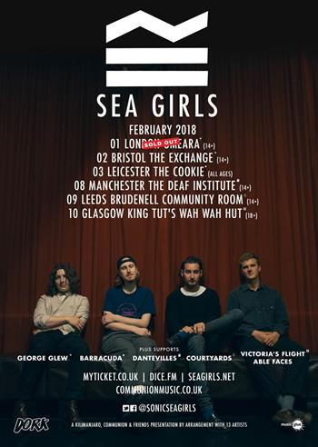 Sea Girls UK Tour 2018