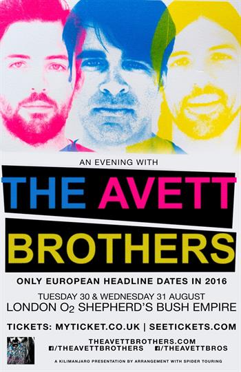 The Avett Brothers UK London 2016 show