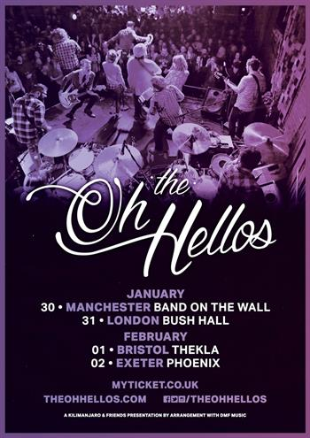 The Oh Hellos UK Tour 2018